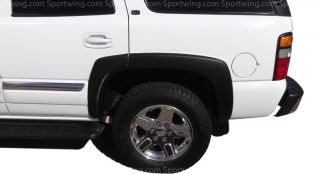 Chevy Tahoe All Models OE Style Fender Flares Black 6 Piece Set Trim