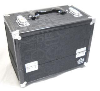 Caboodles Large Stylist Black Train Makeup Organizer Case 5867 24