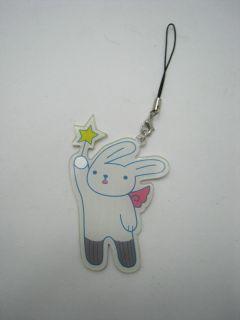 ichi Hatsukoi Ko Yukina Marimo Books Cosplay White Bunny Mobile Strap