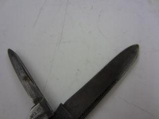 Vintage Miller Bros Cutlery 2 Blade Pocket Knife Burr Oak