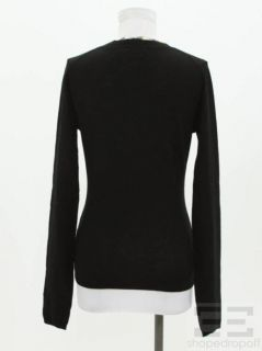 Burberry Brit Black Nova Check Trim Cardigan Size S