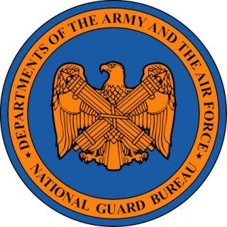 National Guard Bureau Plaque Car Bumper Sticker 4X4