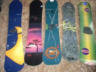 Burton Snowboard Lot 5 Boards Custom 160 Five Asym Air Punch 35 Fofser