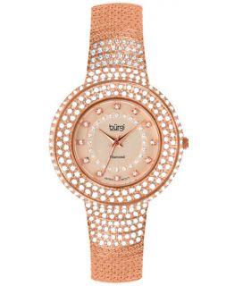 Burgi BUR048RG Diamond Quartz Crystal Bracelet Womens Watch