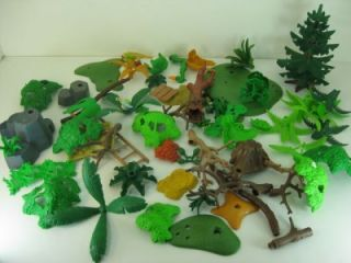 Big Lot f Playmobil Plants Trees Bushes Branches Foliage & Rocks