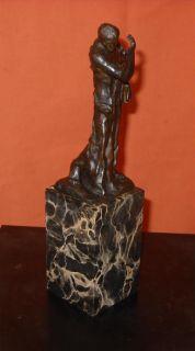 Signed A. Rodin Burghers of Calais Bronze Statue Pierre de Wiessant
