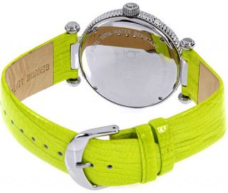 Burgi Womens BUR043GN Diamond Accented Day Date Strap Watch