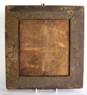 Robert Burns Antique Silhouette Painting on Reverse Glass Birds Eye