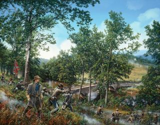 Burnsides Bridge John Paul Strain Civil War Giclee Canvas