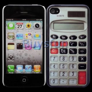 Calculator Hard Cover Case Skin for Apple iPhone 4 4G 4S
