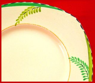1932 ART DECO HAND PAINTED BURLEIGH WARE FERN 7 PLATE   GORGEOUS