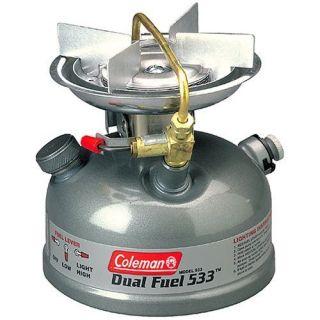 Coleman 1 Burner Dual Fuel Sporter II Liquid Fuel Stove Gas Camping