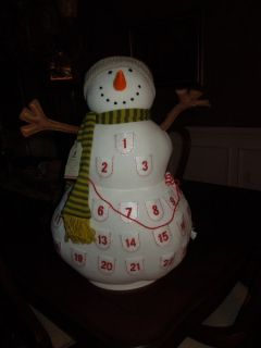 New Pottery Barn Kids Plush Snowman Advent Countdown Calendar