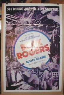 Buck Rogers Buster Crabbe Serial Sci Fi Killer Kane 1sh