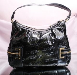 Byblos Blu 605346 Black Patent Leather Handbag Purse