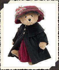 "Boyds Rebecca Bearimore 16"" Bear Hat Dress Coat"