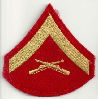 is a patch from the us marine corps lance corporal size 3 6x3 7 inch