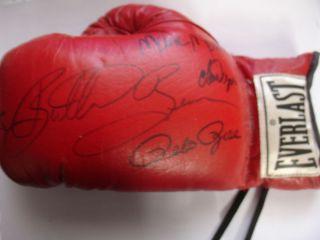 XV 15 Signed Boxing Glove Auto Rose Butterbean Wepner Mero Gunn JSA