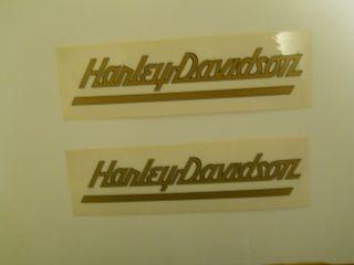Harley Davidson Hummer Tank Decal Set 1954