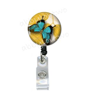 Retractable ID Badge Holder Reel Butterfly