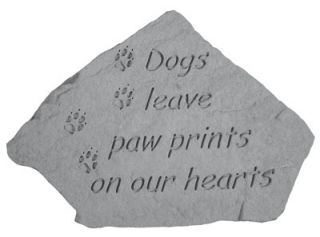 Garden Plaque Stone Garden Decor Pet Memorial Paw Prints Cast Stone