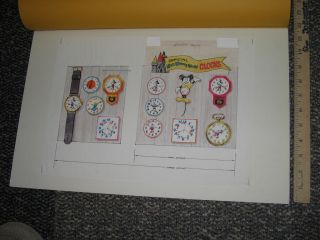 1970s Disney World Original Art Character Watch Clock Mickey Mouse