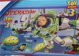 DISNEY PIXAR TOY STORY 3 EDITION OPERATION GAME AGES 6+ BUZZ LIGHTYEAR
