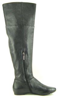 Calvin Klein Michelle Black Leather Womens Designer Over The Knee