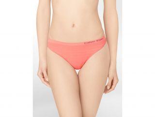 Calvin Klein Underwear Womens Second Skin Seamless Ombre Thong