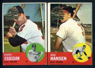 2012 Topps Heritage 50th Anniversary 1963 Buy Back Originals ~ 4 Card