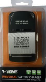 Universal Battery Charger – Fits Most Cell Phone & Camera Batteries