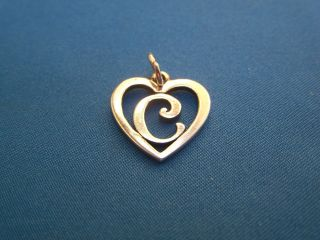 James Avery Sterling Silver Letter C Heart Charm