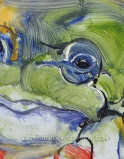 The Frog Coney Original Oil Painting Cute 5x7 Panel Art