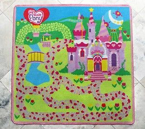 My Little Pony Pink Castle, Kids Play Rug Carpet Game, Great for Girls