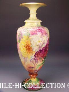 CAC American Belleek Hand Painted 17 Vase