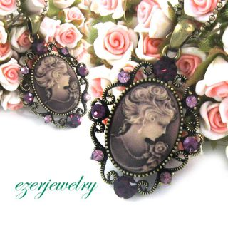 New Antique Style Cameo Necklace Chain Pendant Jewelry