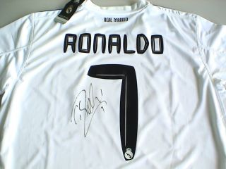 RONALDO Signed Autograph 2010 REAL MADRID Shirt Jersey COA BRAND NEW