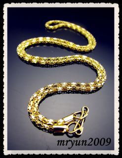20pcs Jewelry Wholesale Gold Plate Snake Chain Necklace with Clasp 16