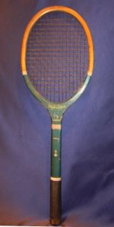Antique c1930 Wright Ditson Surprise Wooden Tennis Racket