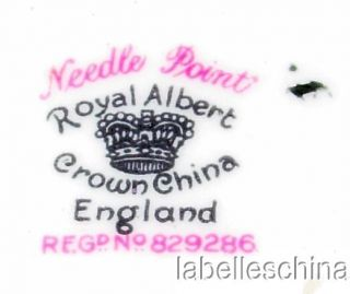 Royal Albert Crown China Needle Point Cake Plate Scratc