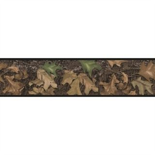 MOSSY OAK WALL BORDER peel & stick wallpaper HUNTING CAMO LEAVES room
