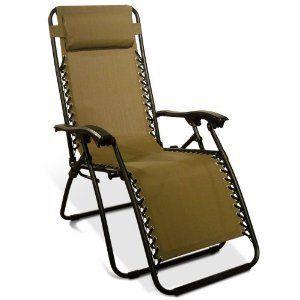 Chair Outdoor Deck Recliner Zero Gravity Caravan Canopy Camp Furniture