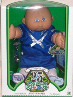 25th Anniversary Cabbage Patch Kids Doll Bald Boy Born February 15th