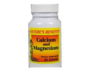 Calcium Magnesium Vitamin Dietary Supplement 30 Tablets