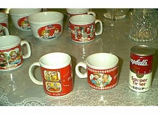 CAMPBELLS KIDS COLLECTIBLE 2 SOUP MUGS CUPS HOUSTON HARVEST GIFT