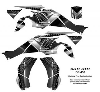 Can Am DS 450 ATV Quad Graphics Kit Decals 7777 Metal