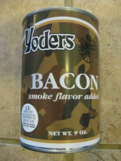 Can 9 oz Yoders Canned Bacon Survival Emergency Food Storage 10 yr