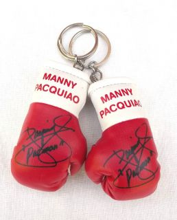 Manny Pacman Pacquiao Autograph Mini Boxing Gloves