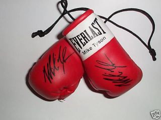 Autographed Mini Boxing Gloves Mike Tyson