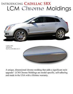 Cadillac SRX Chrome Body Side Mouldings Trim 2010 2011